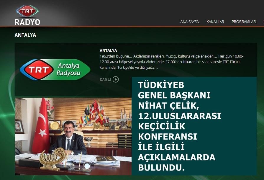Nihat Çelik, TRT Antalya Radyosuna Konuştu