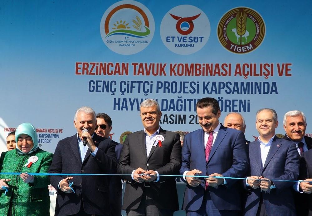 Erzincan da Tavuk Kombinası Açılışı Gerçekleştirildi