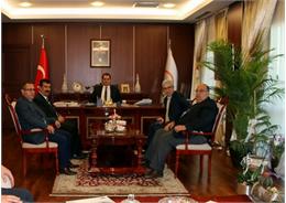 Nihat Çelik, Müsteşar Dr. Nusret Yazıcı ile istişarelerde bulundu