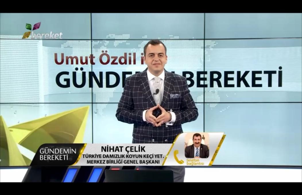 GENEL BAŞKAN ÇELİK, BEREKET TV VE BEREKET HAYVANCILIK TV ORTAK YAYININDA