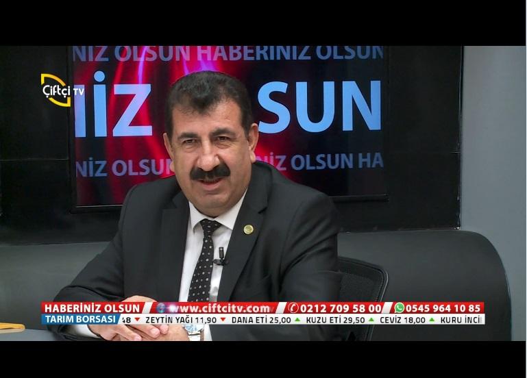 GENEL BAŞKAN ÇELİK, ÇİFTÇİ TV DE SEKTÖRÜ DEĞERLENDİRDİ